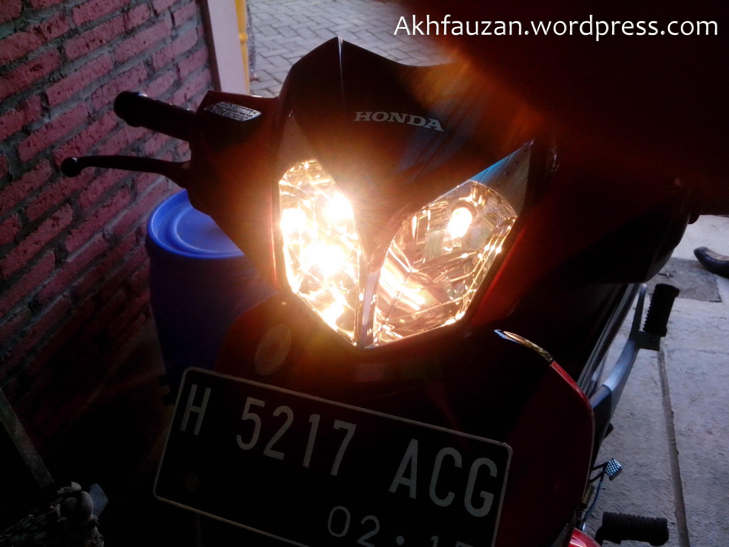 Ganti Lampu Depan Supra X125r Back To Nature Save Our Planet Sen Std Tiger Revo 2007 Img 20130504 070757